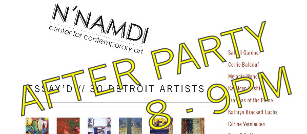 Essay'd Book Release After Party @ N'Namdi Center for Contemporary Art | Detroit | Michigan | United States