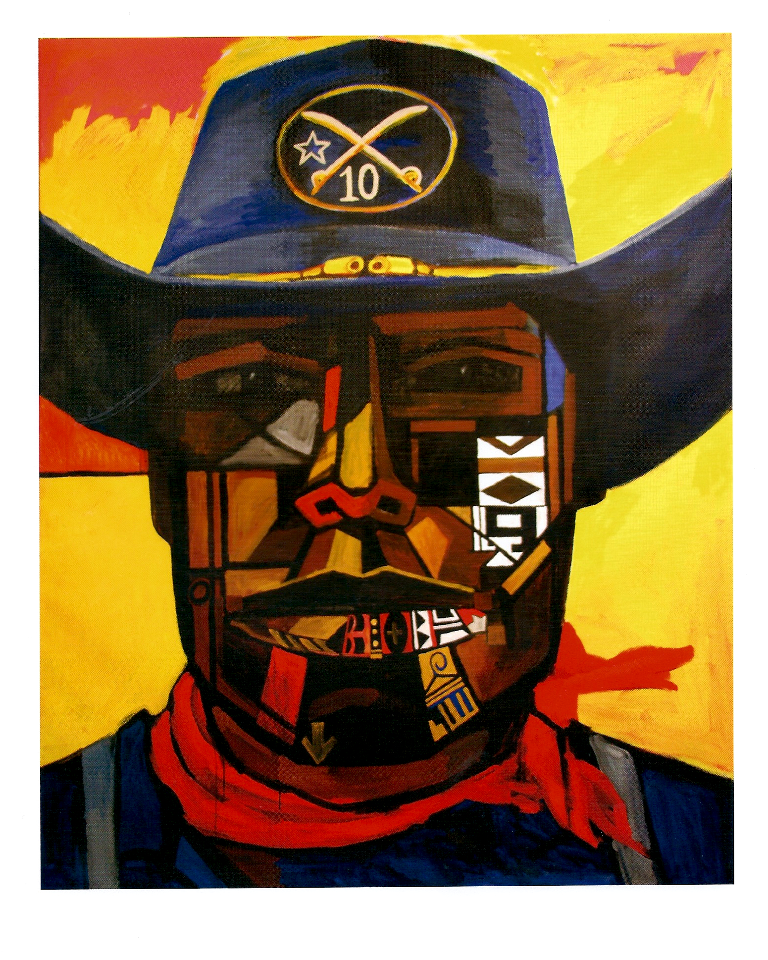 "Bernard Williams ""Buffalo Soldier"" OIl on Canvas, 86 x 67in 1996"