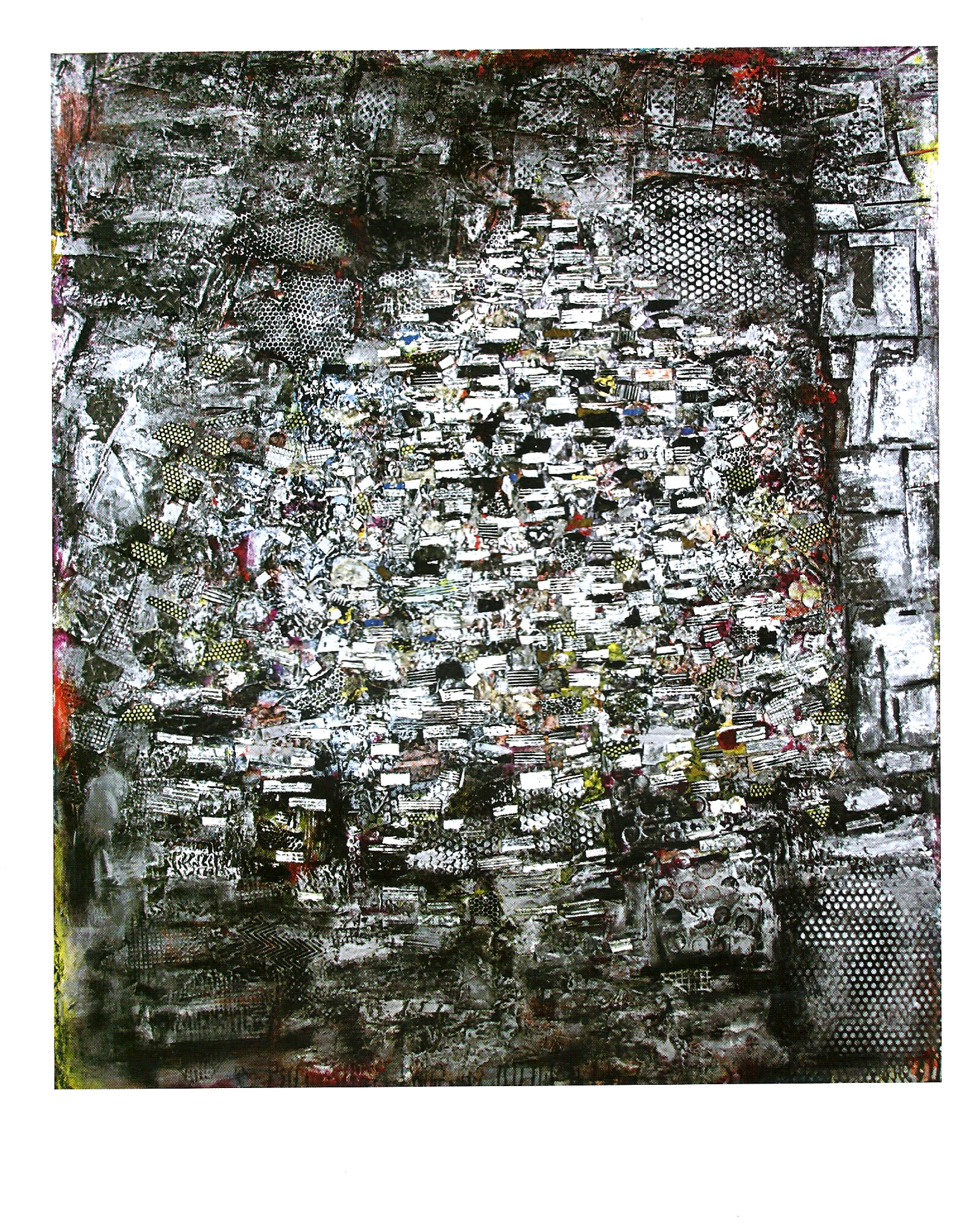 "Jack Whitten ""Summit"" Mixed media on canvas, 84 x 73in 1998"