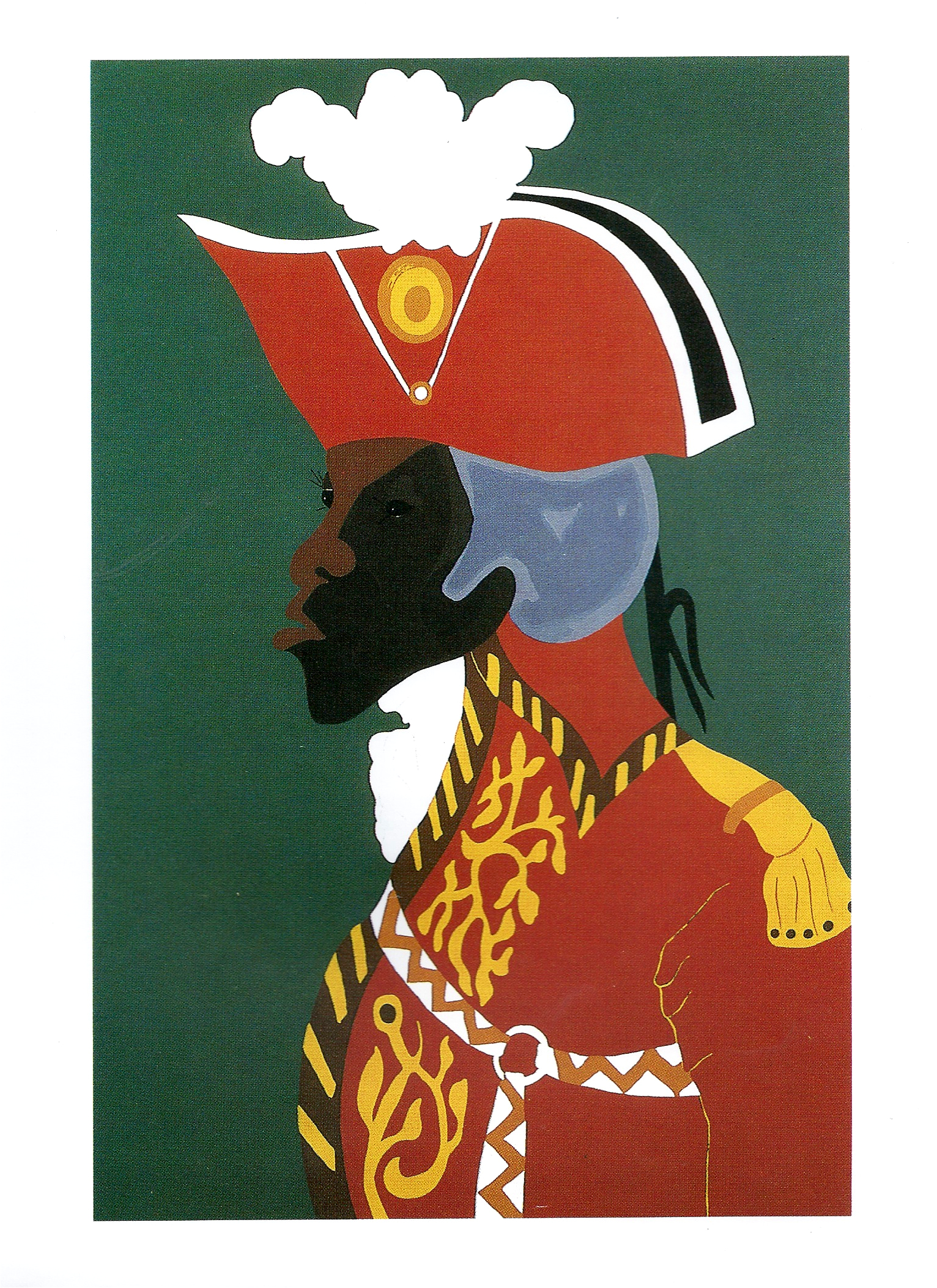 "Jacob Lawrence ""The General Toussaint L'Ouverture"" Silkscreen 28 x 19in 1986"