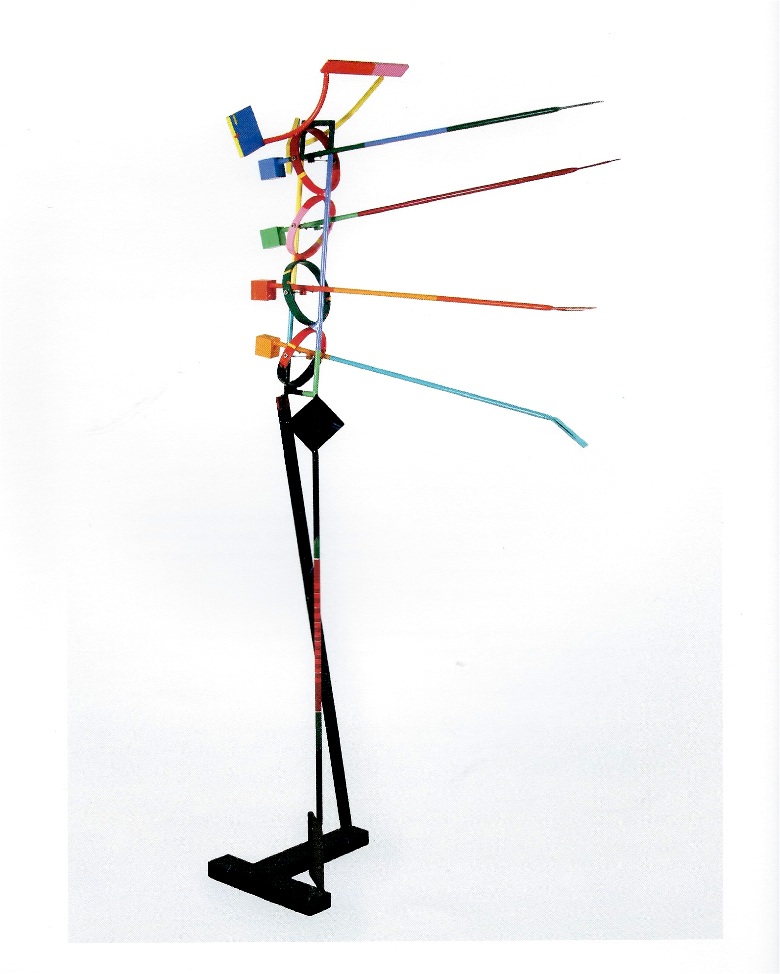 "John Scott ""Black Bottom"" Steel, aluminum and enamel 83 x 38 x 18in 1998"